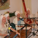 Snatam Kaur and Company playing Gurbani at the wedding Gurdwara.