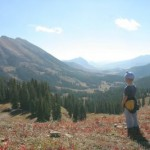Hiking in the Mountains of Crested Butte, CO.
