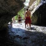 Walking through the stream