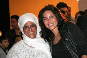Bibiji Inderjit Kaur with Actor Barbara Mori