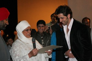 Bibiji Inderjit Kaur with Hrithik Roshan