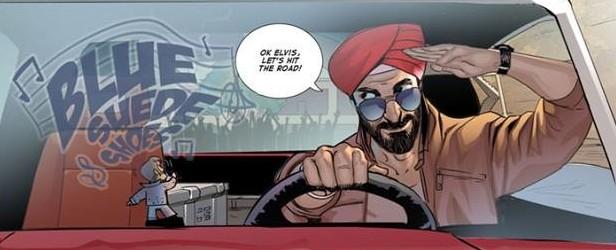 Sikh Superhero Agent Deep Singh